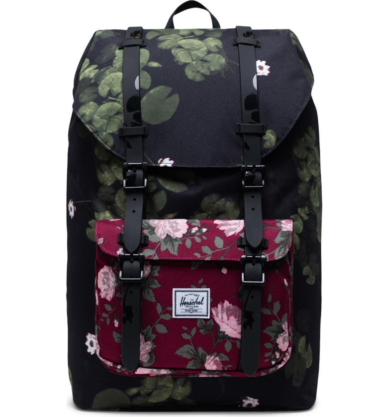 HERSCHEL SUPPLY CO. Little America - Mid Volume Backpack, Main, color, FINE CHINA FLORAL
