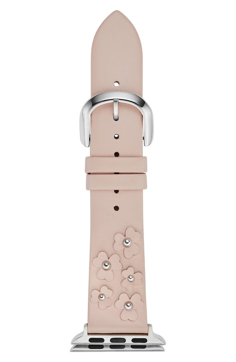 KATE SPADE NEW YORK Apple Watch<sup>®</sup> strap, 38mm, Main, color, BLUSH