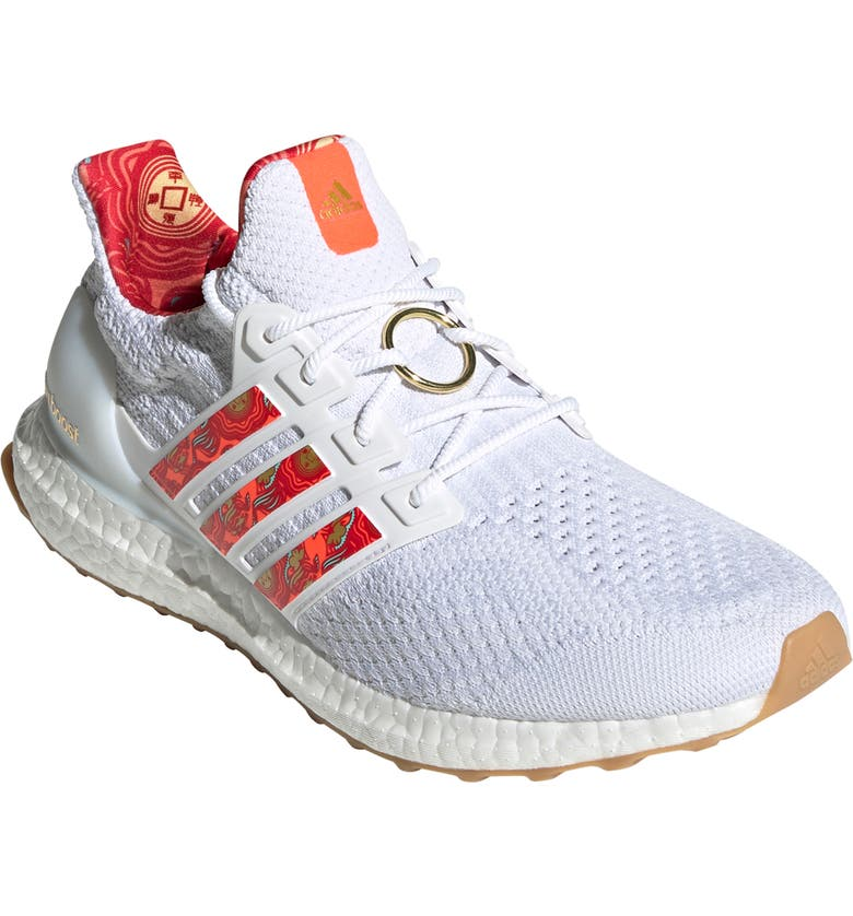 ADIDAS UltraBoost Running Shoe, Main, color, WHITE/ RED/ GOLD