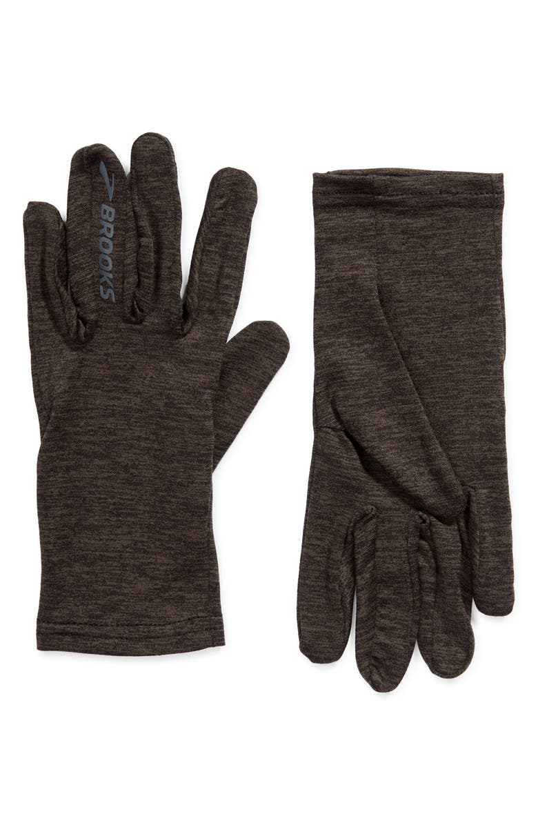 BROOKS Dash Performance Men's Gloves, Main, color, HEATHER BLACK