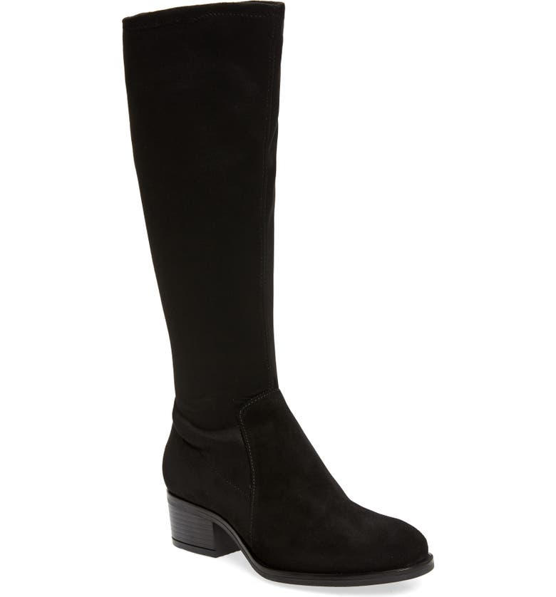 BOS. & CO. Java Waterproof Tall Boot, Main, color, BLACK SUEDE/ MICRO STRETCH