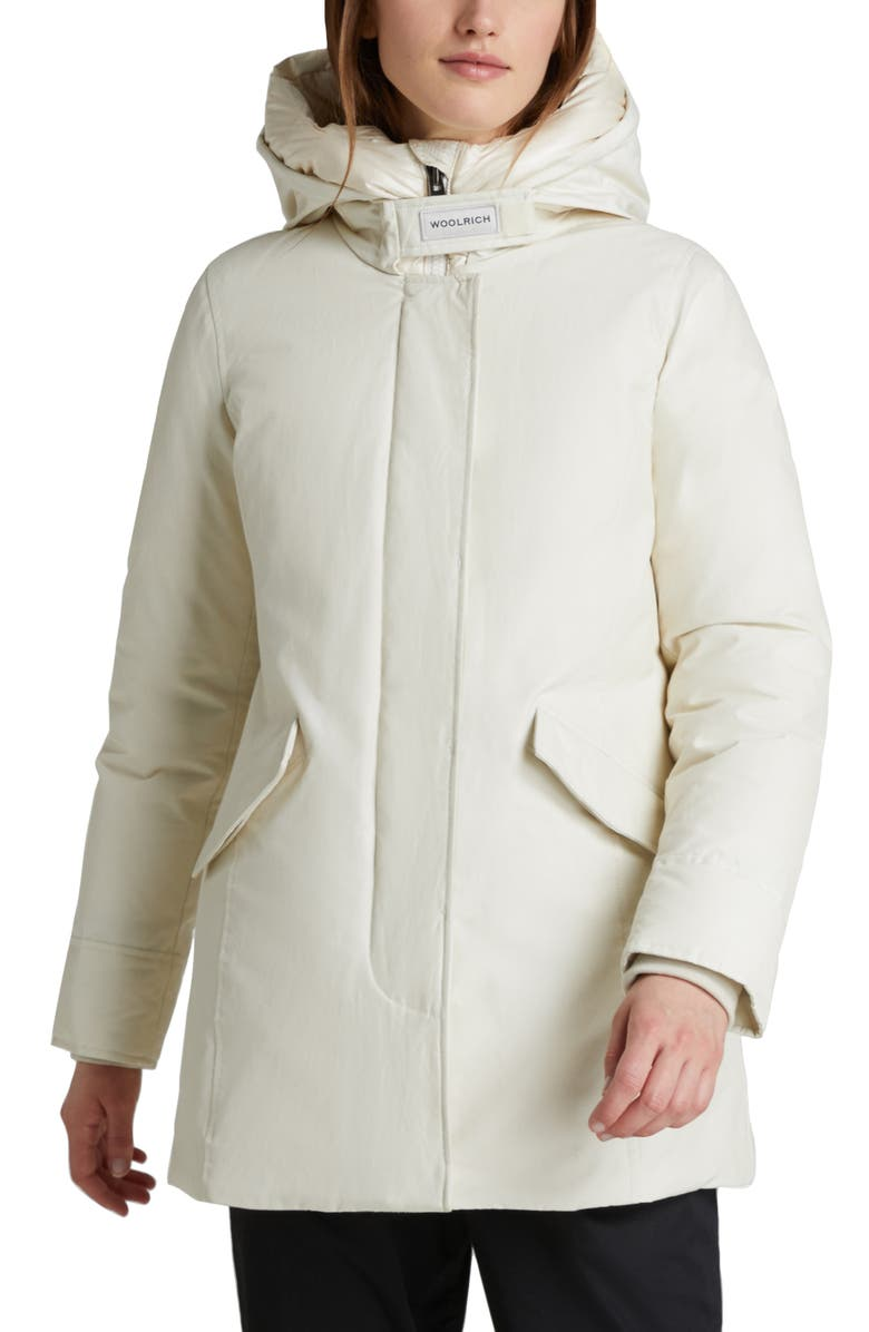 WOOLRICH Arctic Hooded Down Parka, Main, color, WHITE STONE
