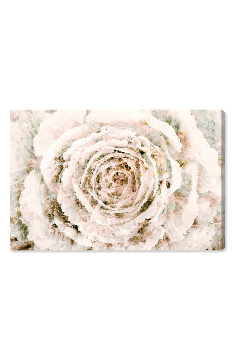 OLIVER GAL Brown Winter Flower Canvas Wall Art, Main, color, CREAM BEIGE LIGHT BROWN