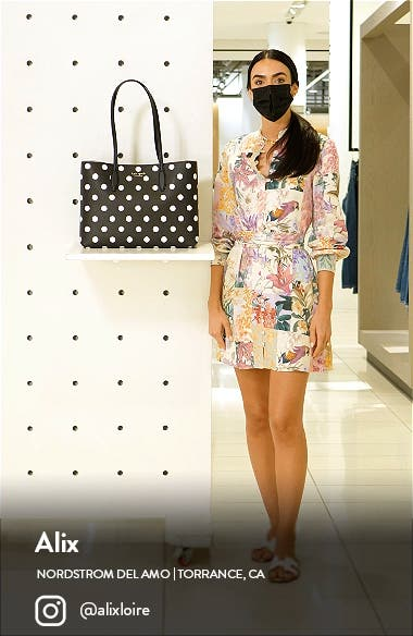 all day sunshine dot large coated canvas tote, sales video thumbnail