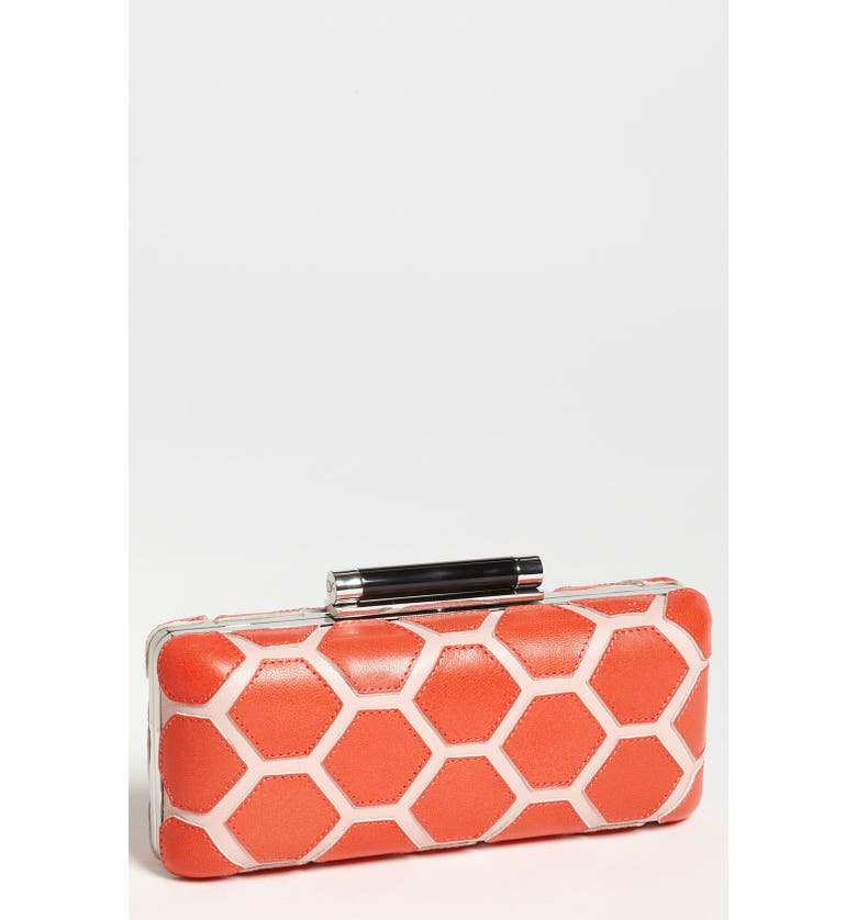 DIANE VON FURSTENBERG 'Tonda - Hexagon Patchwork' Clutch, Main, color, 816