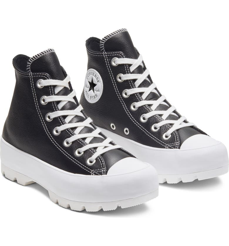 CONVERSE Chuck Taylor<sup>®</sup> All Star<sup>®</sup> Lugged High Top Sneaker, Main, color, 001