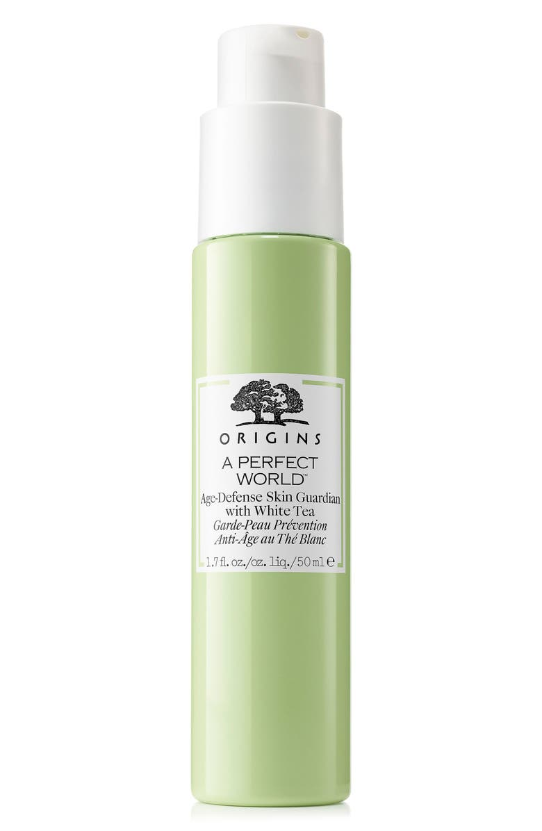 ORIGINS A Perfect World<sup>™</sup> Age-Defense Skin Guardian with White Tea Face Serum, Main, color, No Color