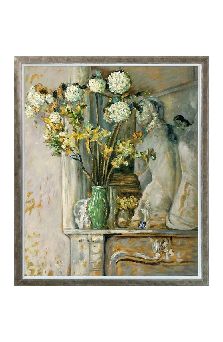 OVERSTOCK ART Guelder Roses and the Venus of Milo Framed Oil Reproduction of an Original Painting by Edouard Vuillard, Main, color, MULTI