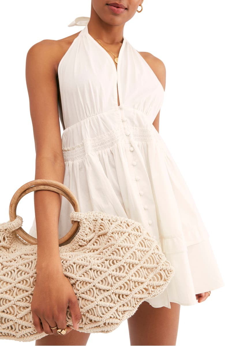 FREE PEOPLE Sail Away Minidress, Main, color, 100