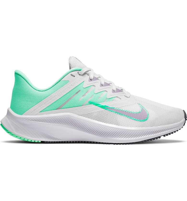 NIKE Quest 3 Athletic Sneaker, Main, color, 111 WHITE/INFLLC