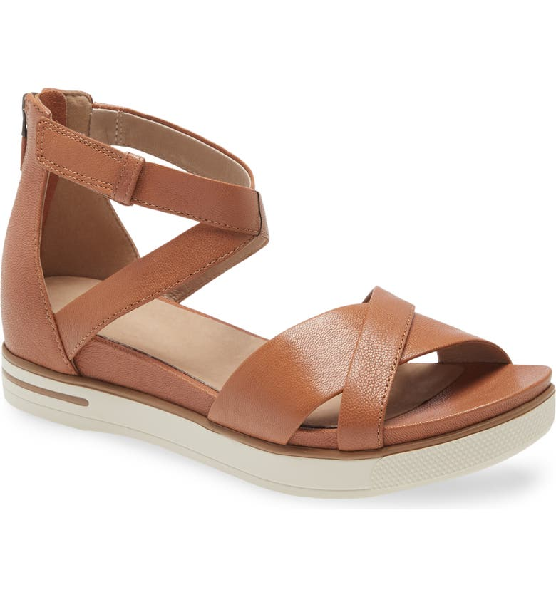 EILEEN FISHER Sally Wedge Sandal, Main, color, CAMEL LEATHER