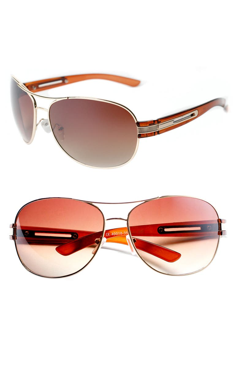 ICON EYEWEAR 'Jameson' Metal & Plastic Aviators, Main, color, 710