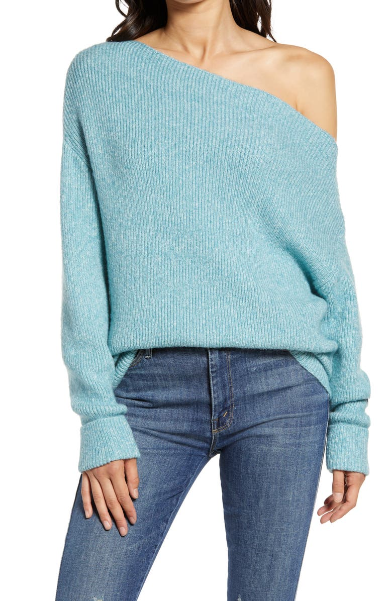 TREASURE & BOND Off the Shoulder Pullover, Main, color, 451