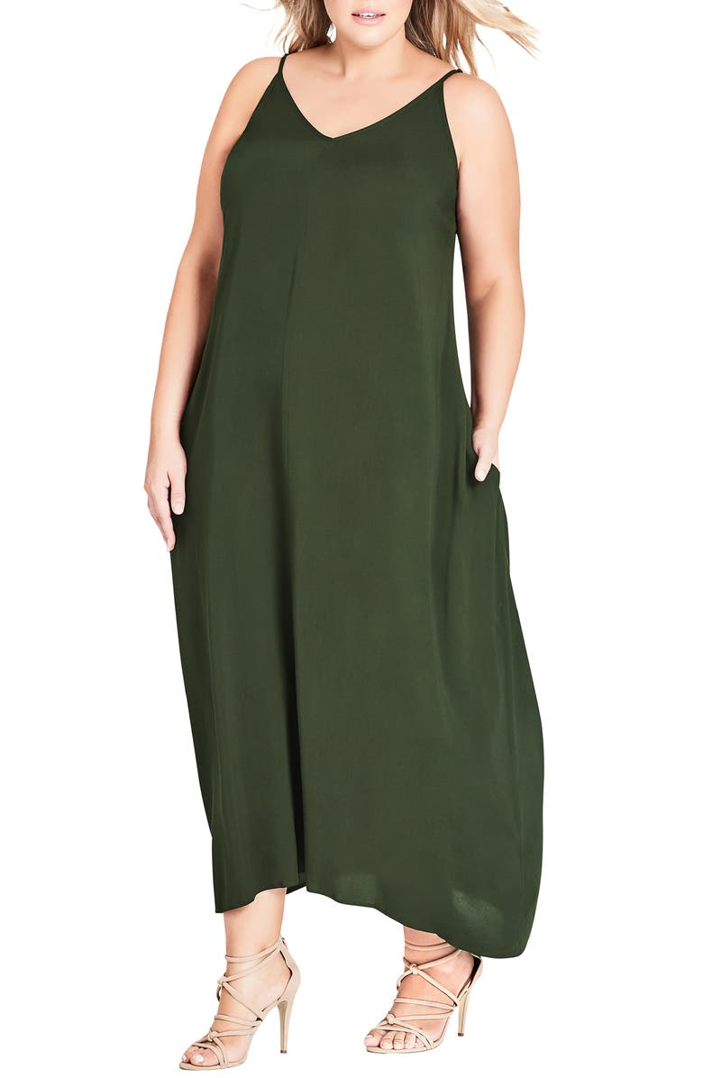 CITY CHIC V-Neck Maxi Dress, Main, color, 303