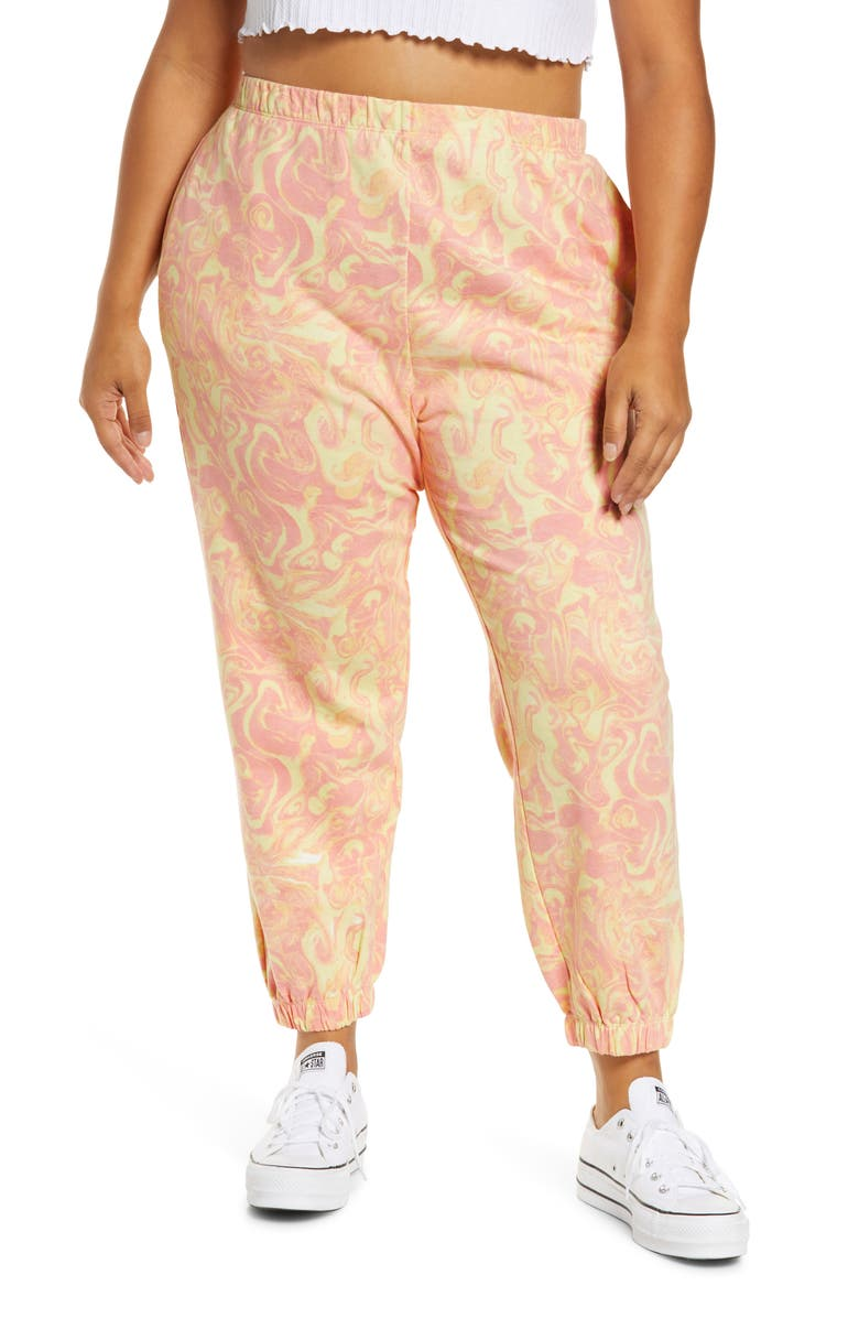 BP. Classic Sweatpants, Main, color, PINK- YELLOW SPACEY