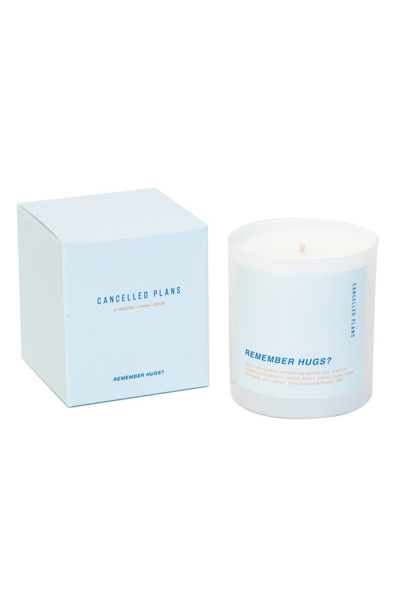 CANCELLED PLANS Remember Hugs? Candle, Main, color, 400