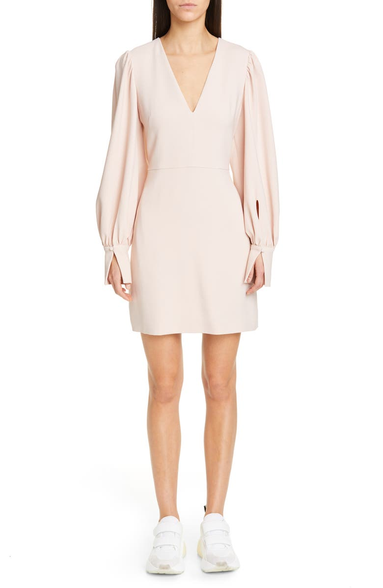 STELLA MCCARTNEY Long Sleeve Stretch Cady Dress, Main, color, 650