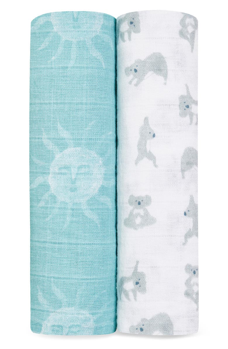 ADEN + ANAIS 2-Pack Classic Swaddling Cloths, Main, color, NOW AND ZEN