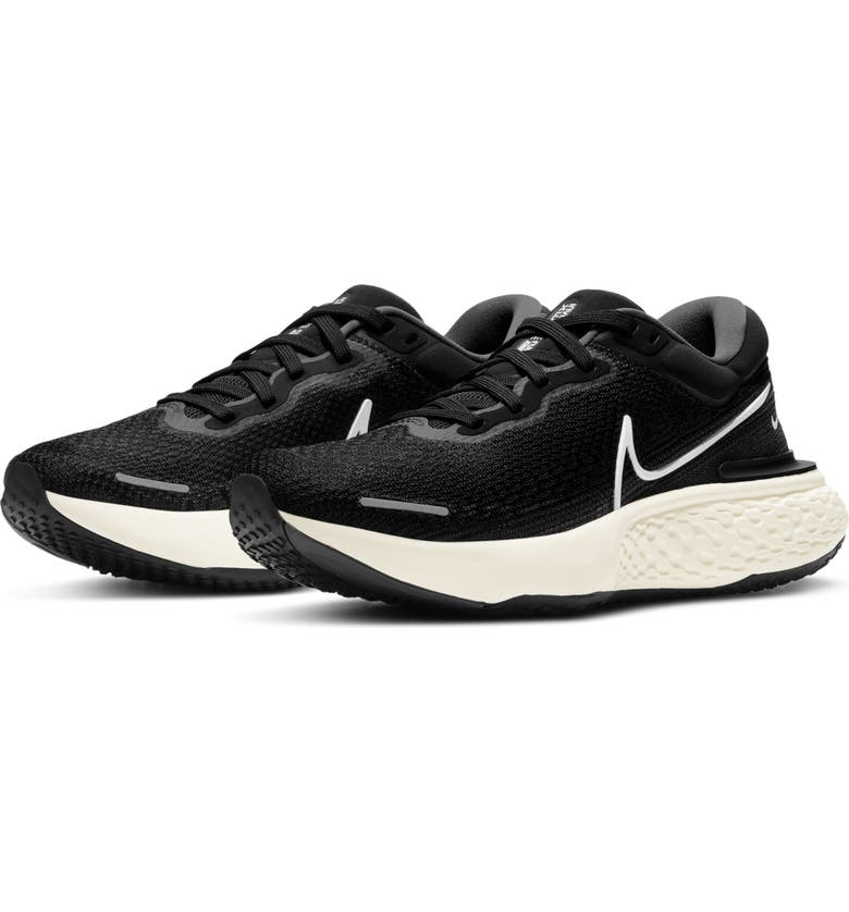 NIKE ZoomX Invincible Run Flyknit Running Shoe, Main, color, BLACK/ WHITE/ GREY/ VOLT