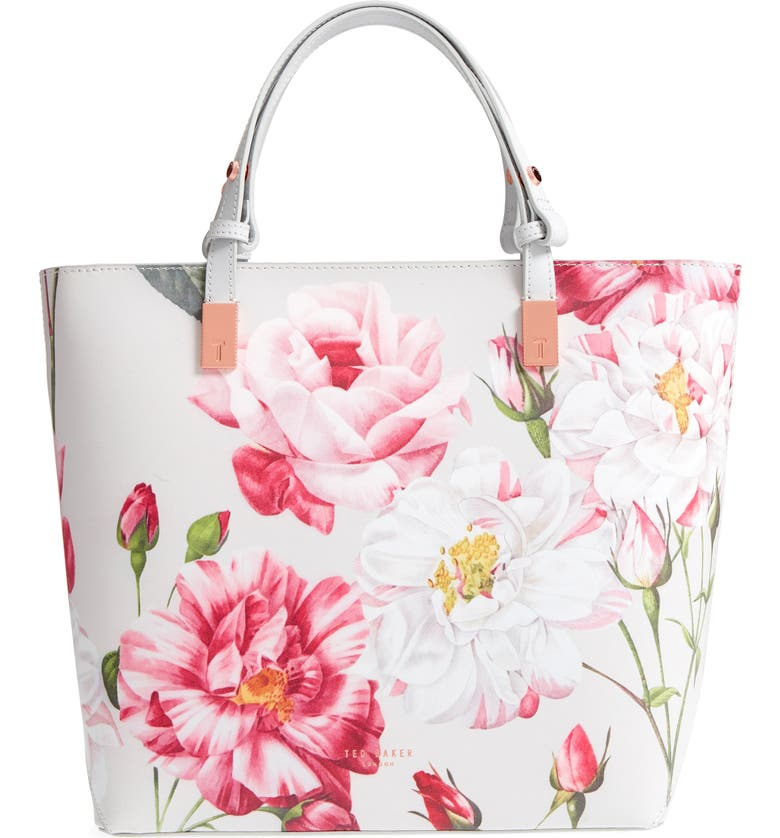 TED BAKER LONDON Adjustable Handle Leather Tote, Main, color, 030