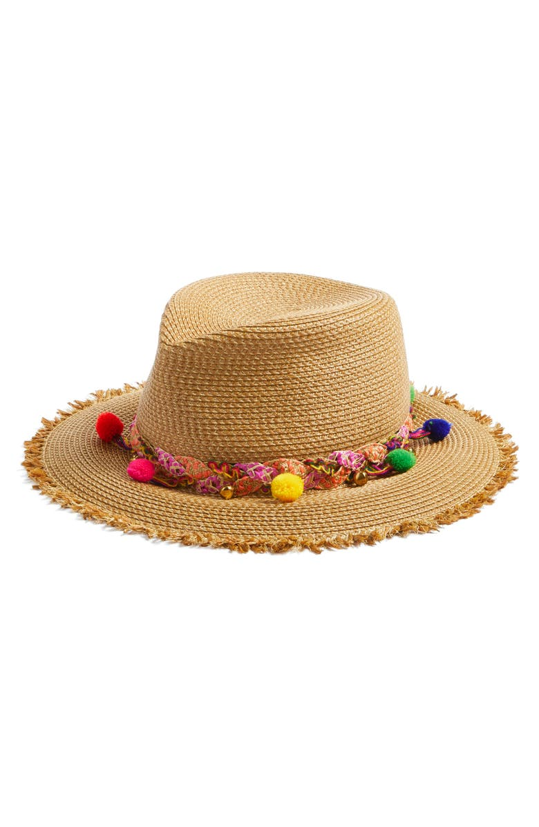 ERIC JAVITS Corfu Packable Squishee(R) Straw Hat, Main, color, NAT MIX