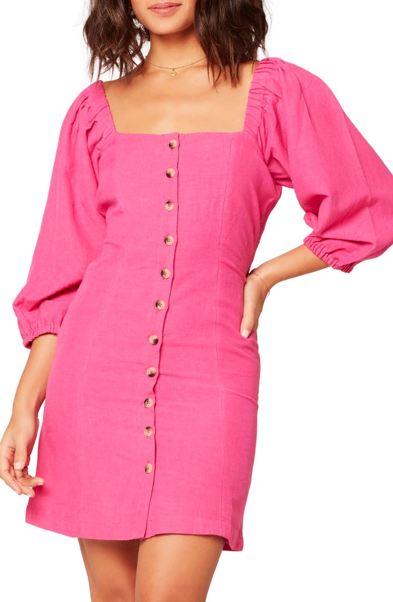 L SPACE Marina Button Front Dress, Main, color, BRF