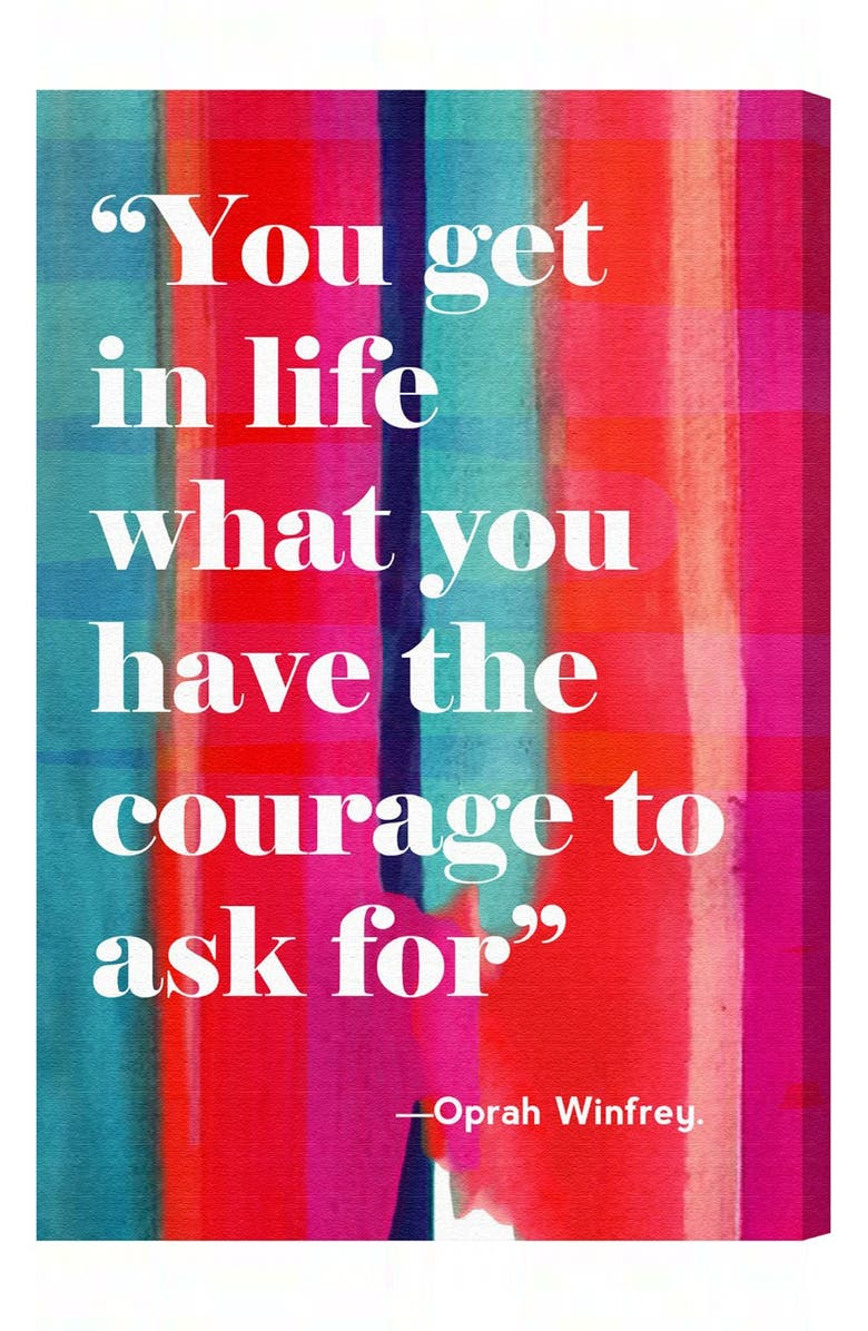 OLIVER GAL 'Courage in Life' Wall Art, Main, color, Pink