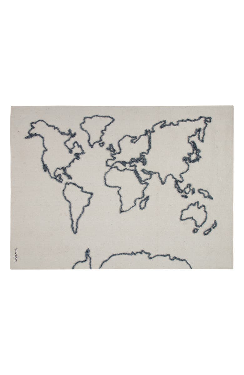 LORENA CANALS Map Wall Hanging, Main, color, IVORY