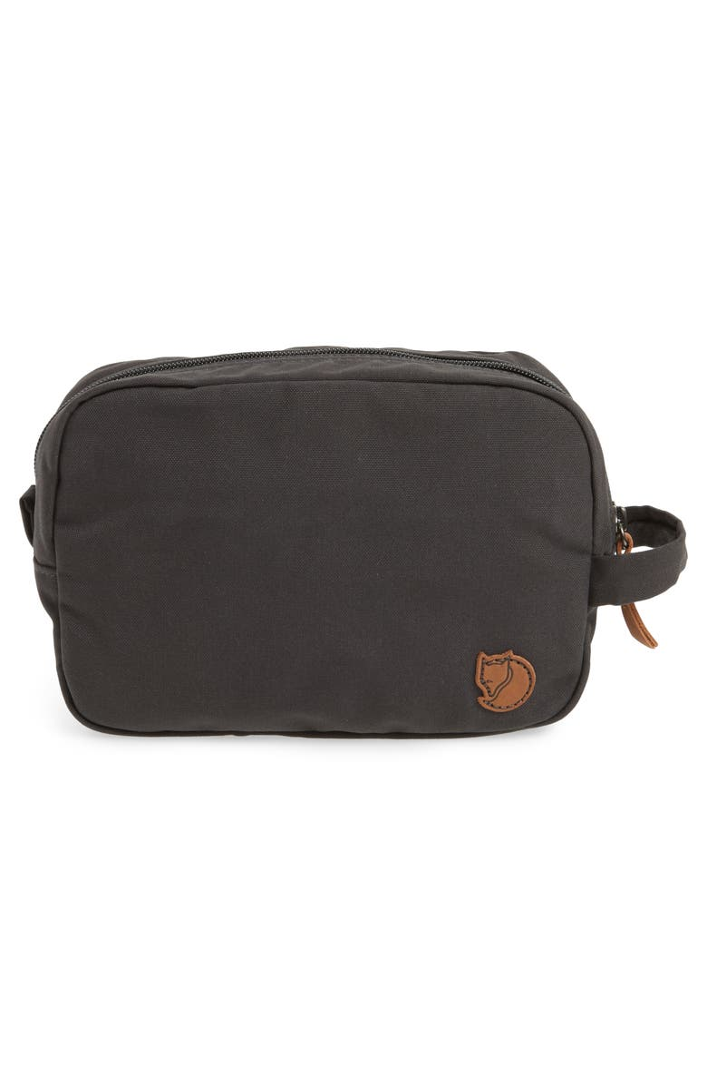 FJÄLLRÄVEN Water Resistant Gear Bag Pouch, Main, color, DARK GREY