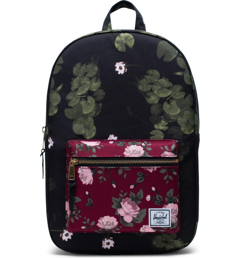 HERSCHEL SUPPLY CO. 'Settlement Mid Volume' Backpack, Main, color, FINE CHINA FLORAL