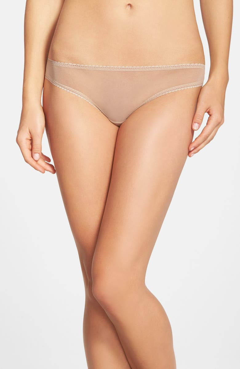 ON GOSSAMER Mesh Bikini, Main, color, MOCHA
