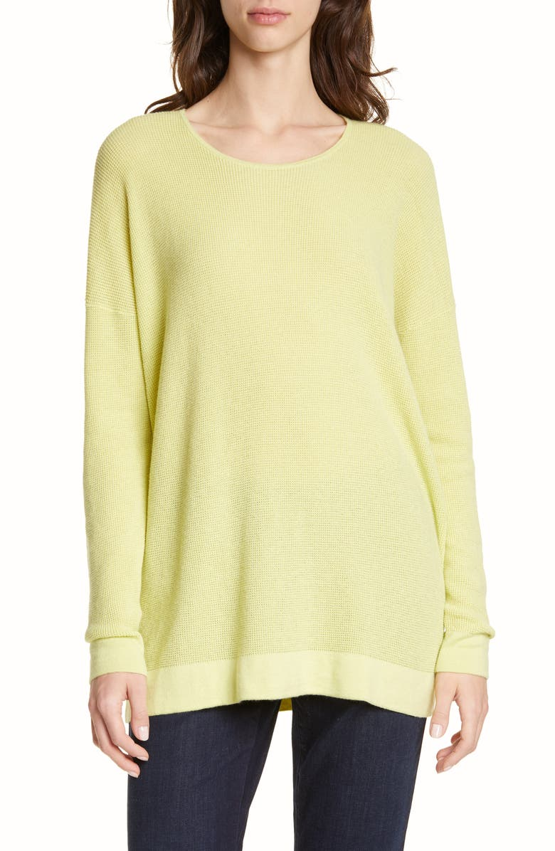 EILEEN FISHER Organic Cotton Blend Thermal Top, Main, color, 380
