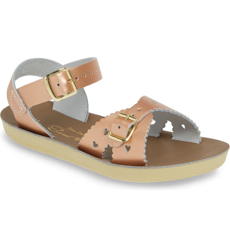 SALT WATER SANDALS BY HOY Sun San Sweetheart Sandal, Main, color, ROSE GOLD