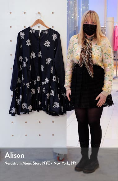 Caliza Embroidered Long Sleeve Dress, sales video thumbnail