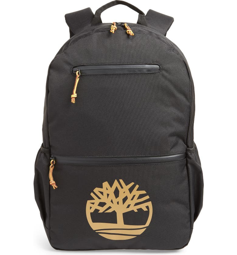 TIMBERLAND Logo Graphic Water Resistant Backpack, Main, color, 001