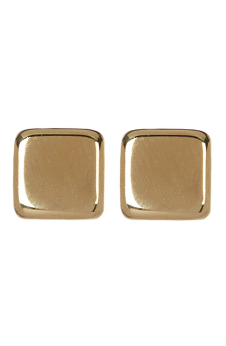 CANDELA JEWELRY 14K Yellow Gold Cushion Stud Earrings, Main, color, gold