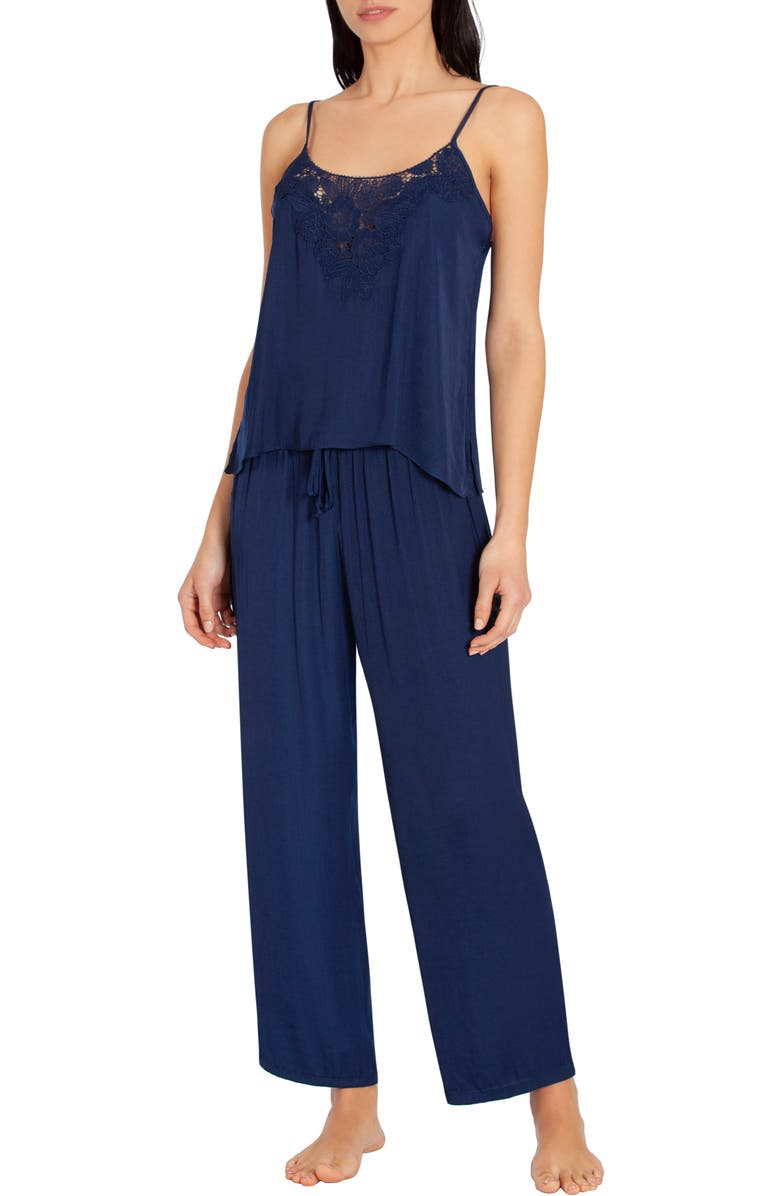 IN BLOOM BY JONQUIL Washed Satin Pajamas, Main, color, 400