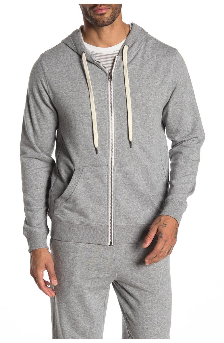 JOES French Terry Zip Front Lounge Hoodie, Main, color, H.GREY