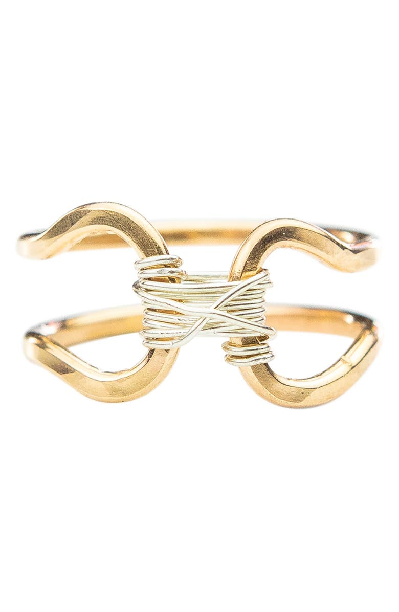NASHELLE Bound Ring, Main, color, Gold