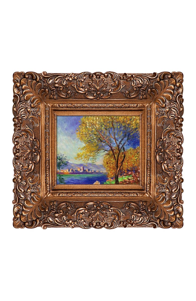 OVERSTOCK ART Antibes, View of Salis - Framed, Hand Painted Oil on Canvas, Main, color, MULTI