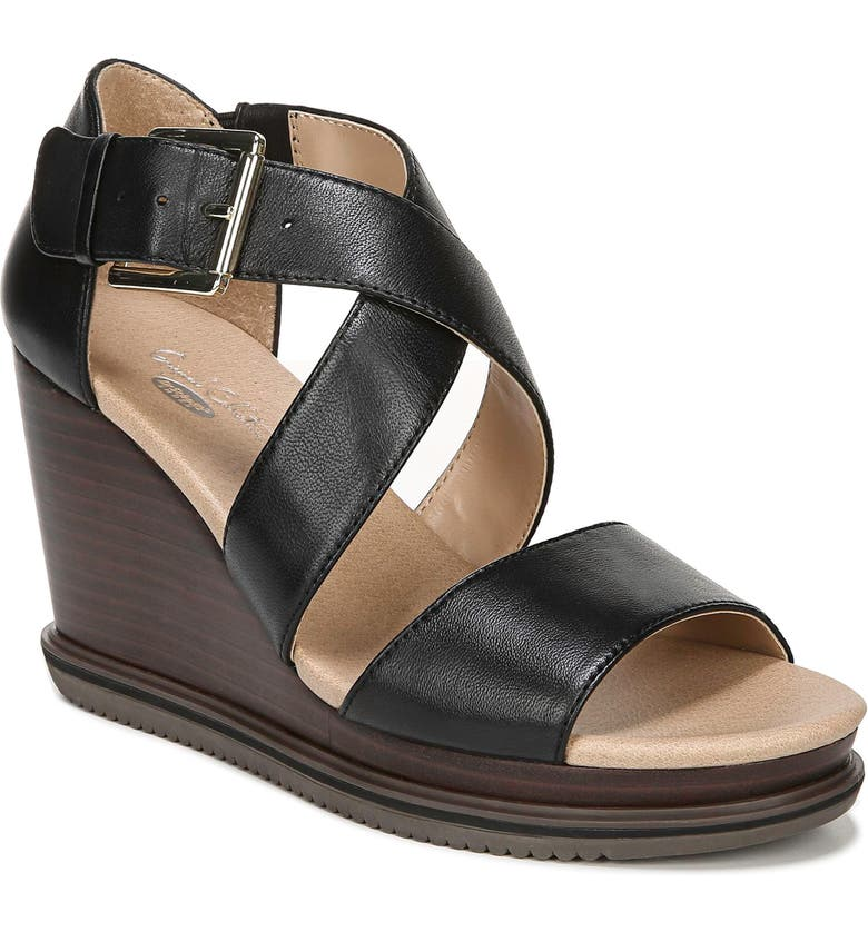 DR. SCHOLL'S Sweet Escape Wedge Sandal, Main, color, 001
