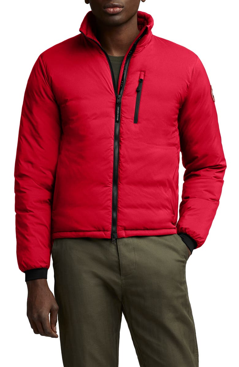 CANADA GOOSE Lodge Packable 750 Fill Power Down Jacket, Main, color, RED