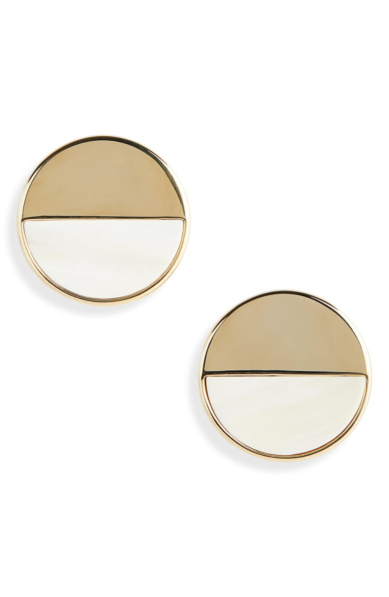 ST. JOHN COLLECTION Circle Earrings, Main, color, 710