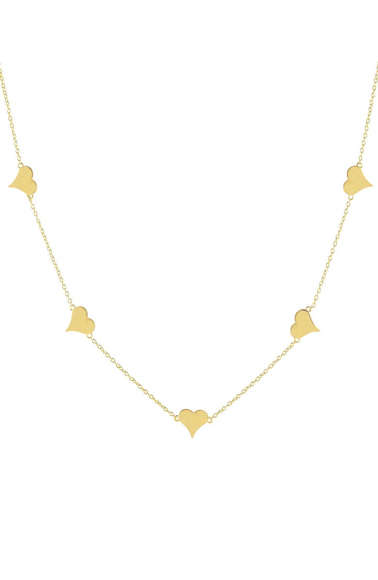 ADINA'S JEWELS Heart Necklace, Main, color, GOLD