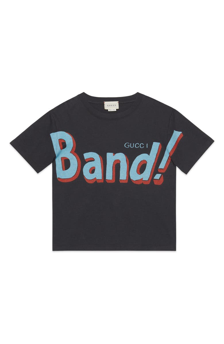 GUCCI Band Graphic Tee, Main, color, 021