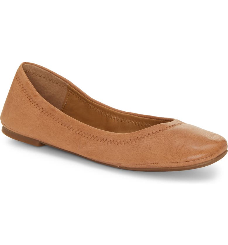 LUCKY BRAND 'Emmie' Flat, Main, color, LATTE LEATHER
