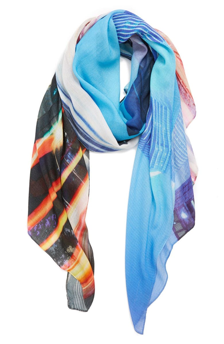 MICHAEL STARS 'Fly By' Digital Print Scarf, Main, color, 400