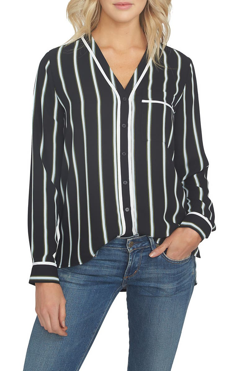 1.STATE Stripe High/Low Blouse, Main, color, 001