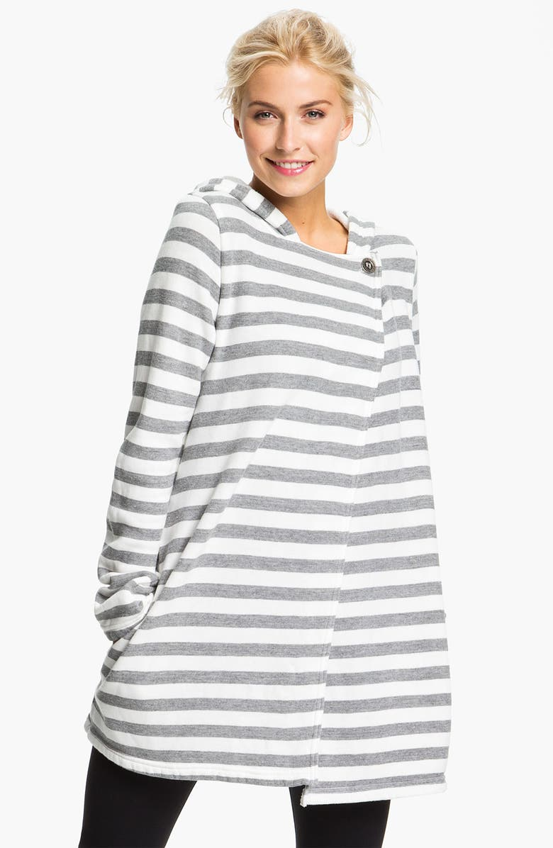 HARD TAIL Hooded Wrap Cardigan, Main, color, 100