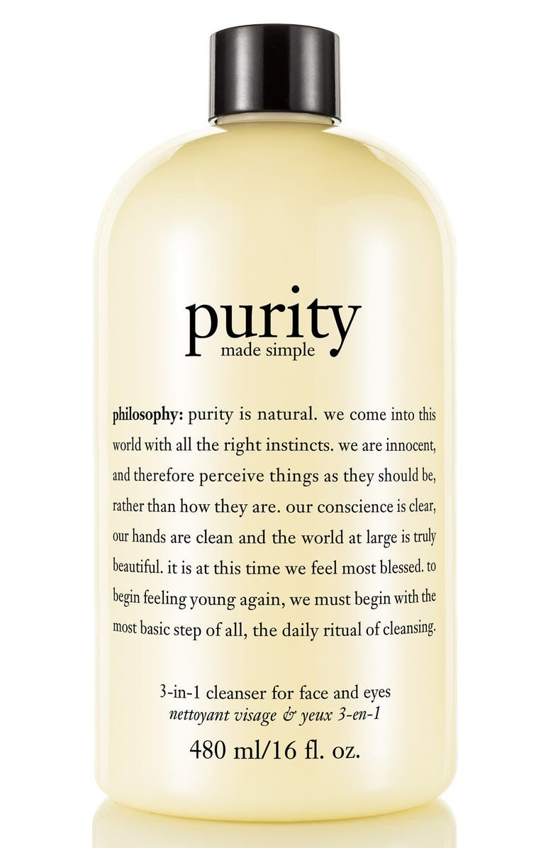 PHILOSOPHY purity made simple one-step facial cleanser, Main, color, 000